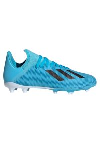 Adidas - Buty dla dzieci do piłki nożnej adidas X 19.3 FG F35366. Materiał: materiał, syntetyk. Szerokość cholewki: normalna. Sport: piłka nożna
