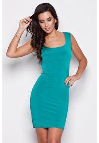 Zielona sukienka Katrus bez rękawów, elegancka