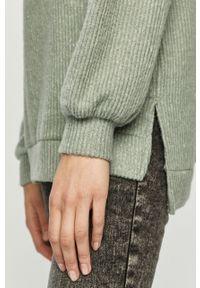Turkusowy sweter Haily's z golfem, melanż