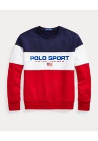 Ralph Lauren - RALPH LAUREN - Bluza bez kaptura Polo Sport. Typ kołnierza: polo, bez kaptura. Kolor: czerwony. Wzór: nadruk. Styl: sportowy