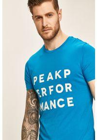 T-shirt Peak Performance z nadrukiem, na co dzień, casualowy