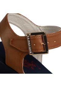 Niebieskie sandały U.S. Polo Assn na co dzień, casualowe