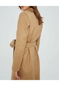 MARLU - Kaszmirowy płaszcz Foru. Kolor: beżowy. Materiał: kaszmir. Długość rękawa: długi rękaw. Długość: długie. Sezon: jesień, zima. Styl: klasyczny