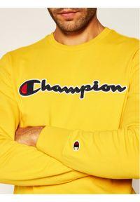 Champion Bluza Satin Script Logo 214188 Żółty Comfort Fit. Kolor: żółty