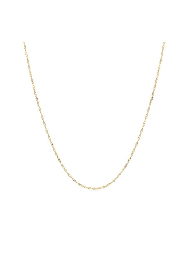 W.KRUK Wyjątkowy Łańcuszek Złoty - złoto 585 - ZVI/LS01. Materiał: złote. Kolor: złoty