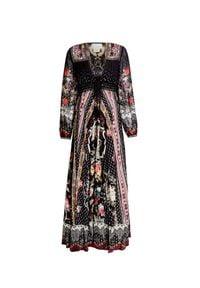 Camilla - Sukienka CAMILLA. Materiał: jedwab. Wzór: haft, kwiaty, aplikacja, nadruk. Długość: maxi