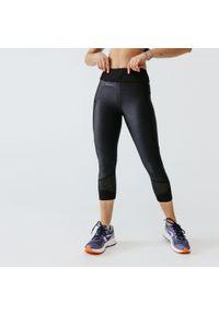 KALENJI - Legginsy do biegania krótkie damskie Kalenji Run Dry+ Feel. Kolor: czarny. Materiał: poliester, materiał, elastan. Długość: krótkie. Sport: bieganie
