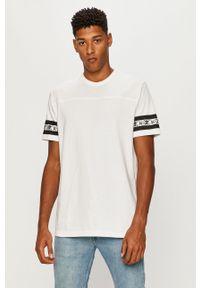 Vans - T-shirt. Okazja: na co dzień. Kolor: biały. Wzór: nadruk. Styl: casual