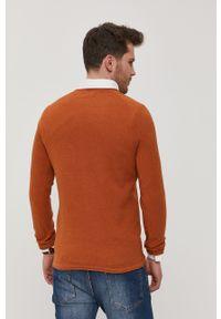 Jack & Jones - Sweter. Kolor: brązowy. Materiał: dzianina. Długość rękawa: raglanowy rękaw