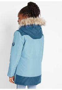 Niebieski płaszcz bonprix z aplikacjami