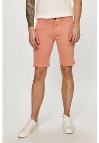 Pepe Jeans - Szorty Blackburn short. Okazja: na co dzień. Kolor: różowy. Materiał: tkanina. Wzór: gładki. Styl: casual