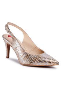 Złote sandały Maccioni klasyczne