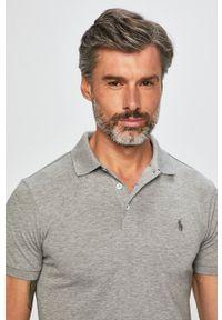 Polo Ralph Lauren - Polo. Typ kołnierza: polo. Kolor: szary. Długość: krótkie
