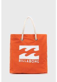 Pomarańczowa torba plażowa Billabong na ramię, duża