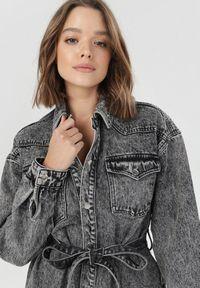Szara kurtka jeansowa Born2be