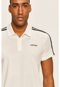 Biała koszulka polo Adidas polo, na co dzień, casualowa