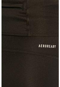 Czarne legginsy adidas Performance z podwyższonym stanem, z nadrukiem