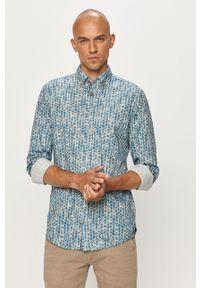 Niebieska koszula JOOP! button down, klasyczna, długa