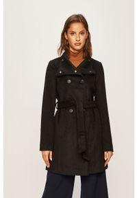 Czarny płaszcz Vero Moda bez kaptura