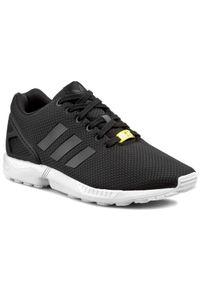 Czarne buty sportowe w paski, z cholewką, Adidas ZX Flux, z paskami