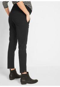 Czarne spodnie bonprix klasyczne, moda ciążowa, krótkie