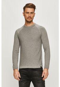 Szary sweter Only & Sons raglanowy rękaw, casualowy, na co dzień