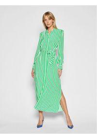Zielona sukienka TOMMY HILFIGER koszulowa