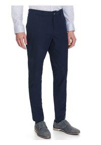 Niebieskie spodnie TOP SECRET na wiosnę, eleganckie, w kolorowe wzory