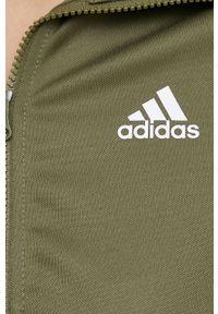 adidas Performance - Adidas Performance - Dres. Kolor: zielony. Materiał: dresówka