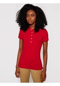 Polo Ralph Lauren Polo Julie 211505654113 Czerwony Slim Fit. Typ kołnierza: polo. Kolor: czerwony