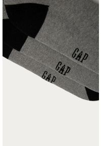 Szare skarpetki GAP z nadrukiem