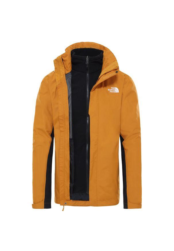 Żółta kurtka turystyczna The North Face