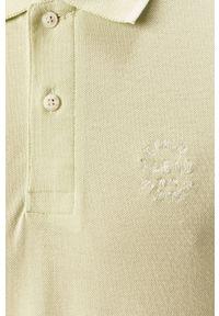 Oliwkowa koszulka polo Blend melanż, krótka, na co dzień