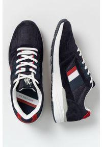 U.S. Polo Assn. - Buty. Nosek buta: okrągły. Zapięcie: sznurówki. Kolor: niebieski. Materiał: guma, syntetyk, materiał, skóra, zamsz. Szerokość cholewki: normalna #4