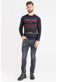 Sweter Versace Jeans Couture w kolorowe wzory