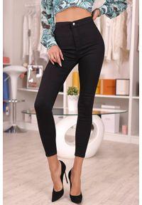 Czarne jeansy IVET casualowe, z podwyższonym stanem, na co dzień