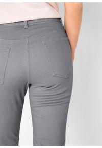 Spodnie ze stretchem Slim Fit bonprix szary. Kolor: szary. Materiał: bawełna #6