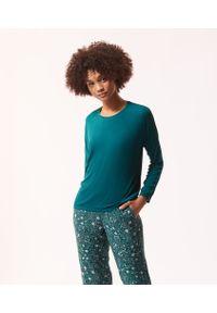 Zielona piżama Etam z nadrukiem, długa