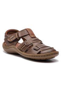 Brązowe sandały Krisbut casualowe, na lato