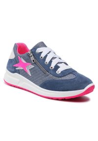 Superfit - Sneakersy SUPERFIT - 1-006155-8000 D Blau/Rosa. Okazja: na co dzień. Kolor: niebieski. Materiał: welur, skóra, materiał. Szerokość cholewki: normalna. Styl: casual