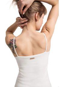 LaLupa - Sukienka na ramiączkach z prążkowanej dzianiny bawełnianej. Materiał: prążkowany, dzianina, bawełna. Długość rękawa: na ramiączkach. Wzór: aplikacja. Długość: midi