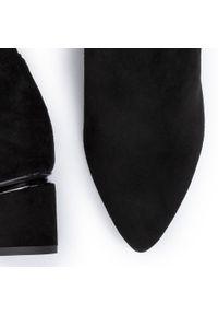 Czarny kozaki Wojas z cholewką