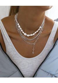 SELFIE JEWELLERY - Naszyjnik z łańcuchem Mirage Silver. Kolor: srebrny. Wzór: kolorowy