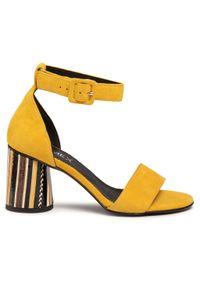 Żółte sandały Ann Mex casualowe, na co dzień