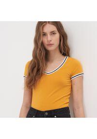 Żółty t-shirt Sinsay z krótkim rękawem, krótki #1