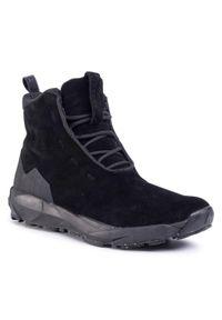 Czarne buty zimowe Icebug na co dzień, z cholewką, casualowe