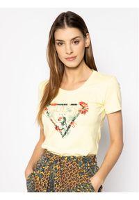 Guess T-Shirt Rose W0GI33 J1300 Żółty Regular Fit. Kolor: żółty