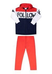 Primigi Komplet bluza i legginsy Happy Shopping 45182511 Czerwony Regular Fit. Kolor: czerwony