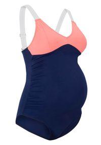 Niebieski strój kąpielowy bonprix moda ciążowa