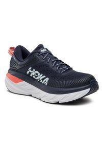 Hoka One One - Buty HOKA ONE ONE - W Bondi 7 1110519 Bibbl. Kolor: niebieski. Materiał: materiał. Sport: bieganie